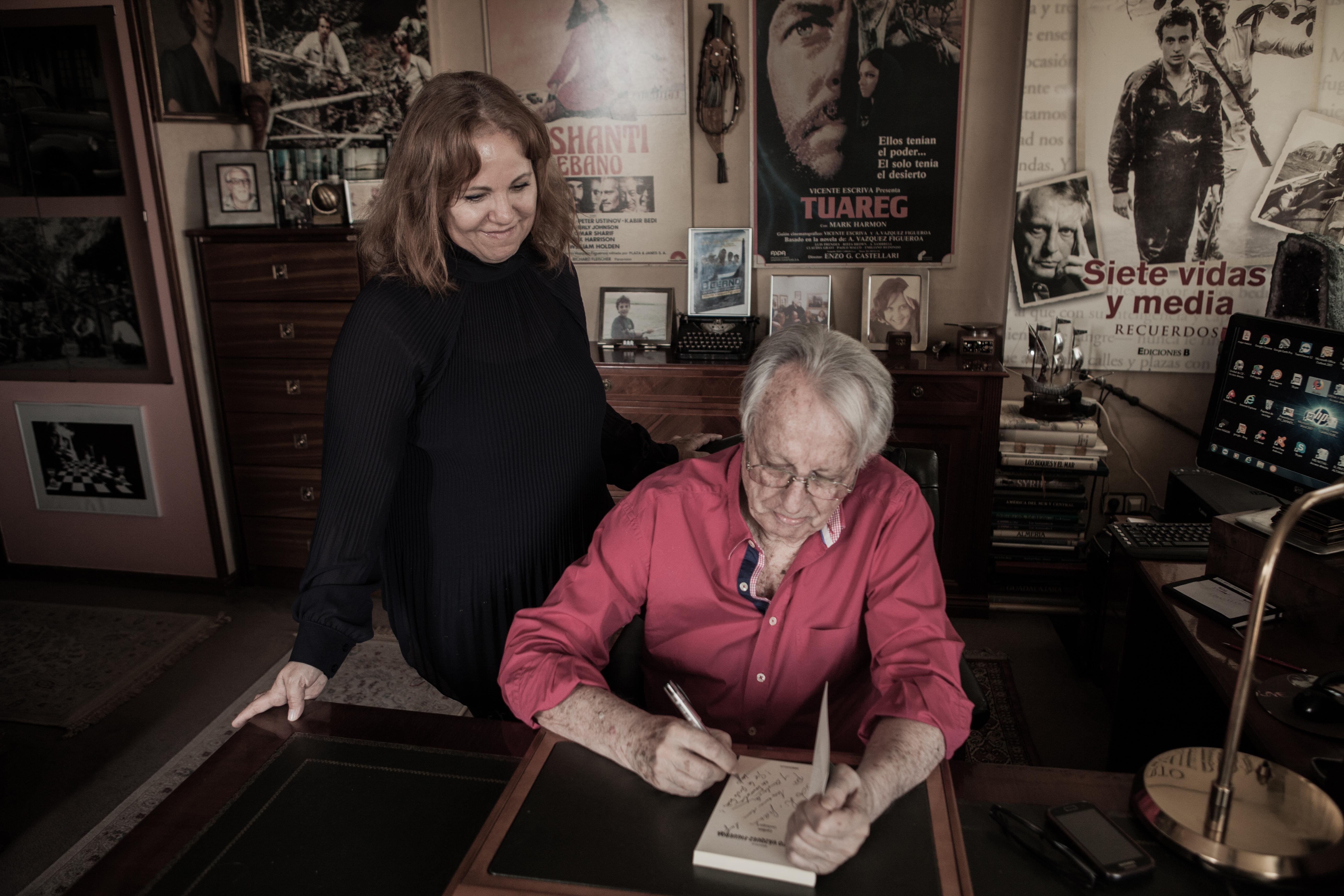 Entrevista concedida por Alberto Vázquez Figueroa a Dolores Hernández, el 2 de noviembre de 2018, en Madrid.