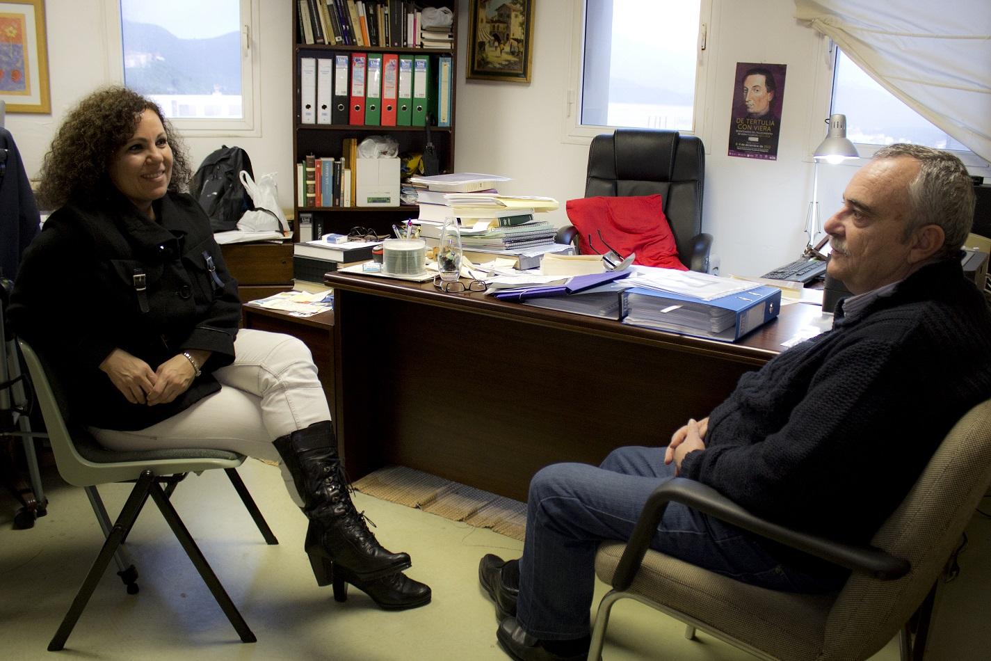 Dolores Hernández junto a Manuel de Paz